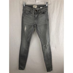 CURRENT/ELLIOT Grey Mid-Rise Jeans Sz 25/26